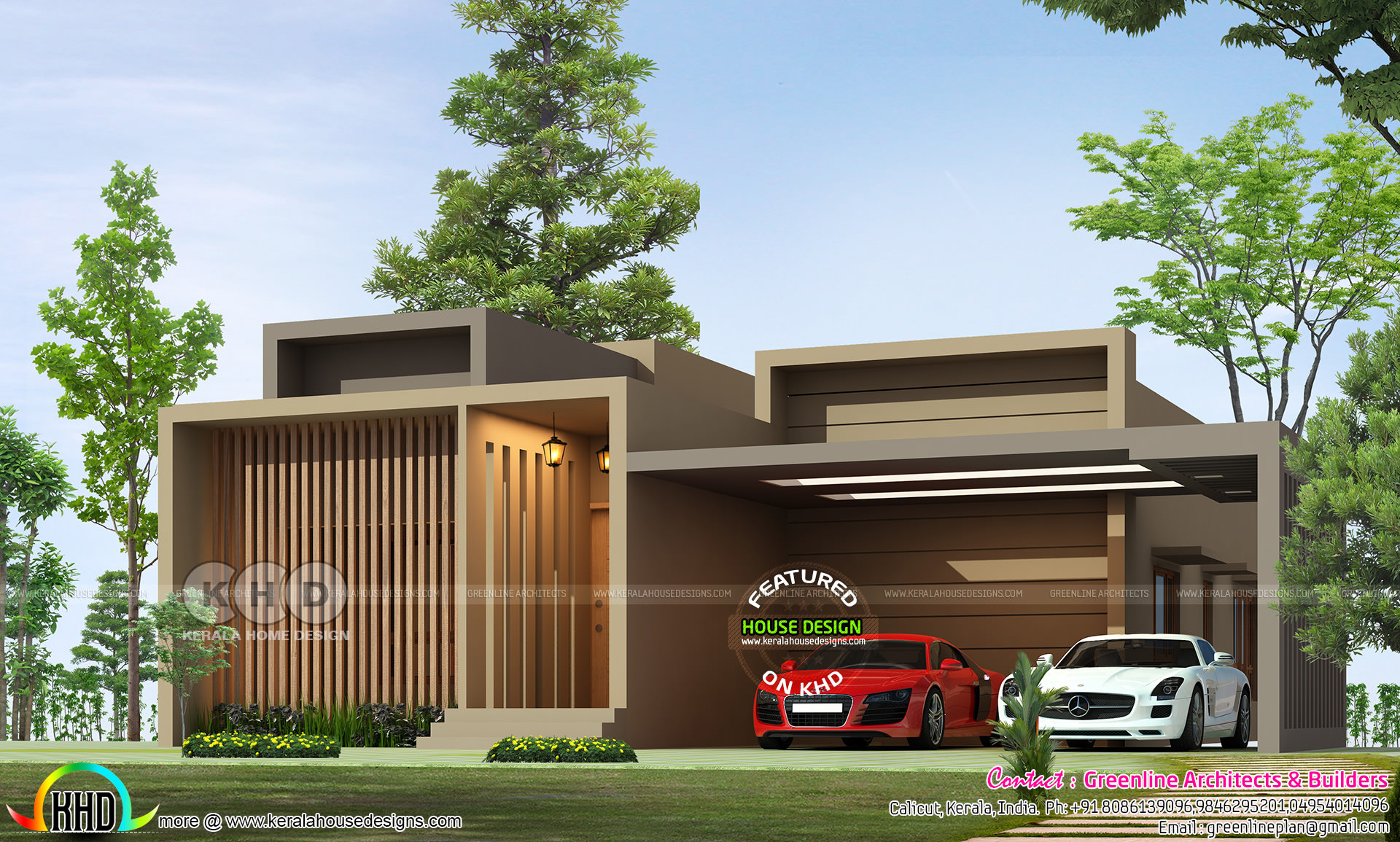 Box model single floor ultra modern home plan - Kerala ...