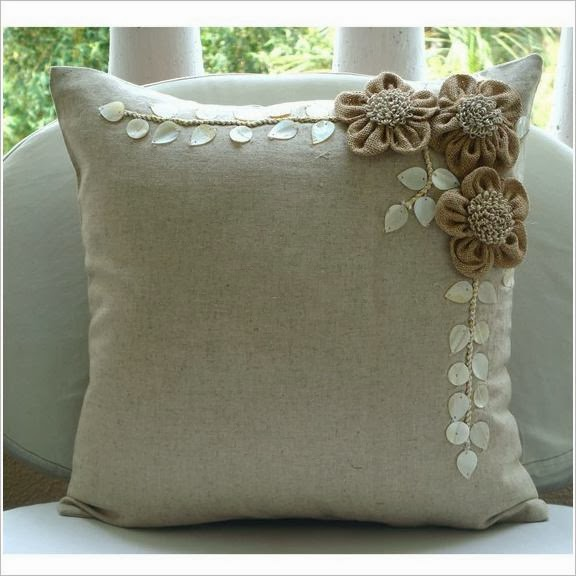 Декор подушек. Pillow, cushions decor ideas.