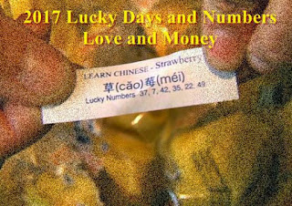 2017 Lucky Days and Numbers in Love and Money