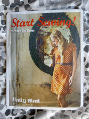 'Start Sewing' vintage tea dress pattern from The Daily Mail