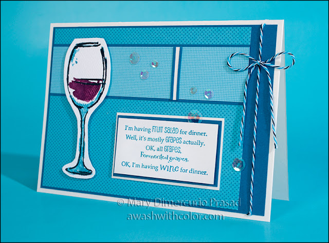 Rubbernecker Stamps Fruit Salad Wine Card