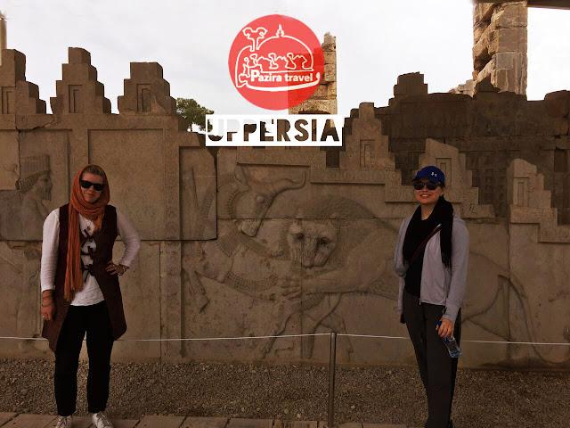 Travelers visiting Persepolis. Iran