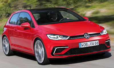 New 2017 Volkswagen Golf Eighth-Gen red color Hd Pictures 01