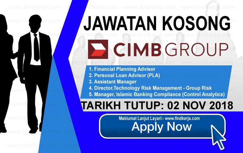 Jawatan Kerja Kosong CIMB Group logo www.ohjob.info www.findkerja.com november 2018