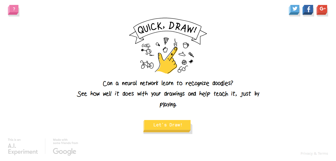 Quick Draw A Doodling Game By Google