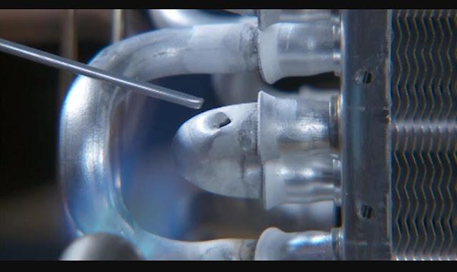 Cara menambal evaporator atau kondensor aluminium