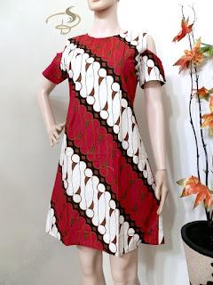 Dress Batik Parang Sabrina Merah