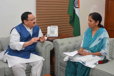 J P Nadda, Nirmala Sitaraman, Union health and family welfare minister, Himachal Fruit Growers