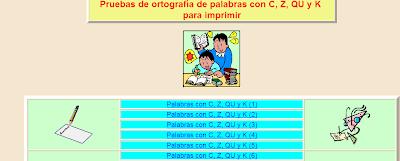 Resultado de imagen de Palabras con C, Z, QU y K (1)