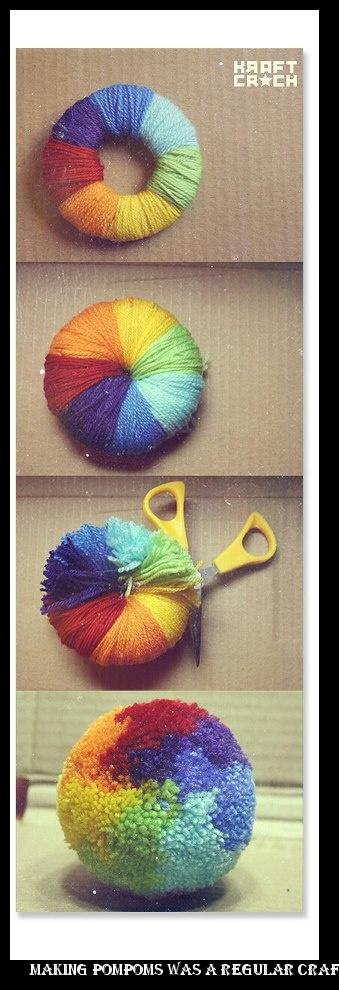 9128150942f64e ... make your own pair of sneakers making pompoms was a regular craft  activity Artisy-Fartsy Things )