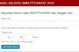 Pengumuman Hasil Ujian SMM PTN-Barat 2018