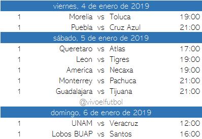 Futbol Calendario.Calendario Del Clausura 2019 Del Futbol Mexicano Apuntes De Futbol