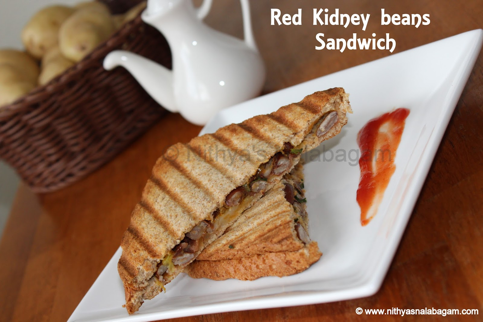 Red Kidney beans Sandwich