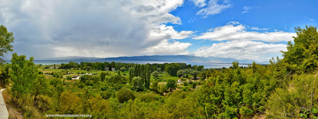 Ohrid Lake - view from St. Erasmos church near Ohrid, Macedonia