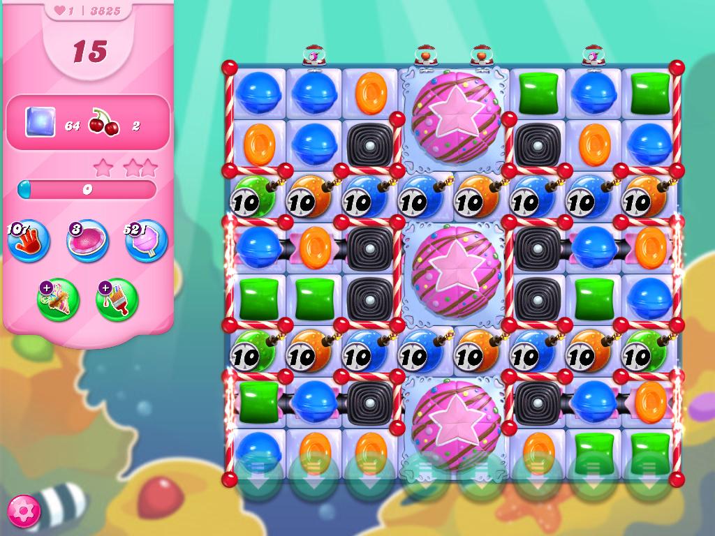 Candy Crush Saga level 3825