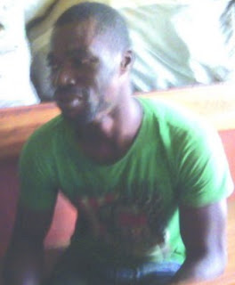 photo of thief arrested in lagos