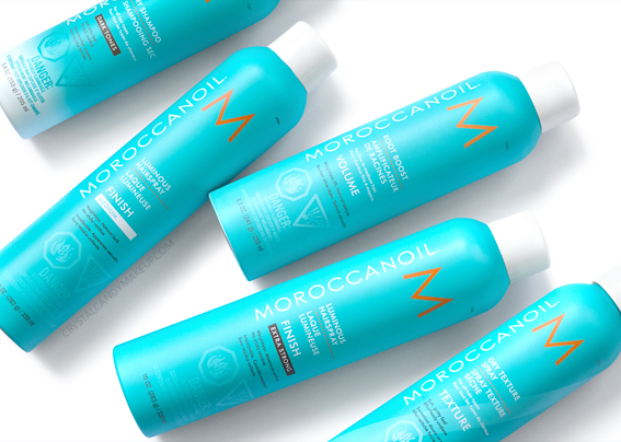 Moroccanoil Styling Products Review Luminous Hairspray Root Boost Dry Texture Spray Shampoo Dark Tones
