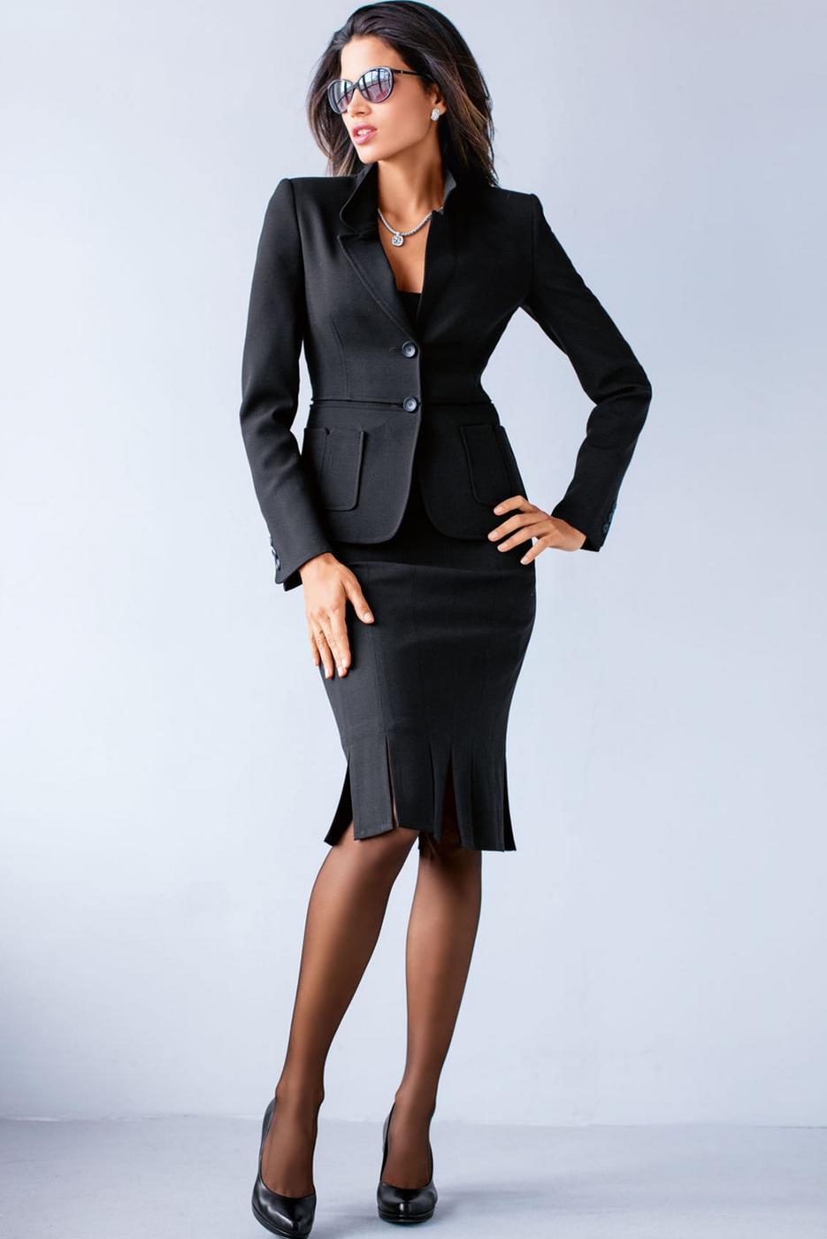 Madeleine Black Suit