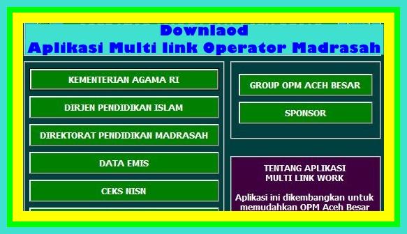 Download Aplikasi Operator Sekolah/Madrasah Multi Link Terbaru Versi 2017/2018
