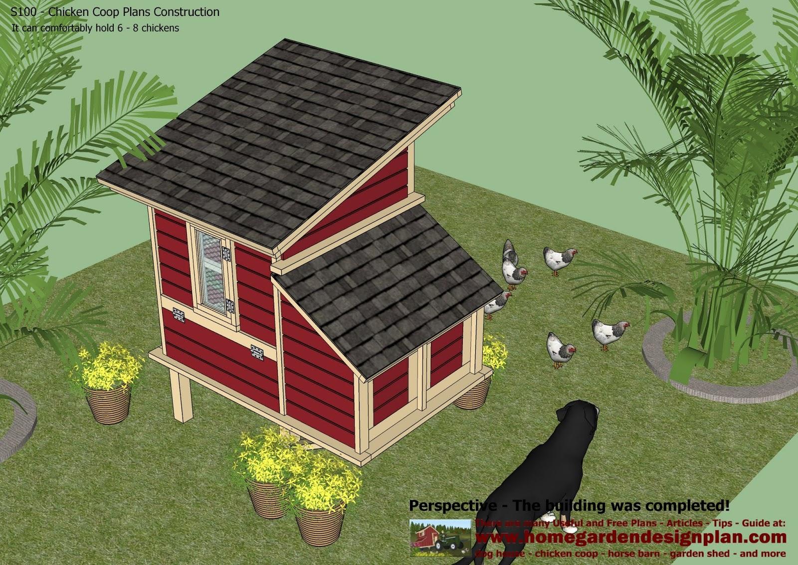 home garden plans: S300 - Chicken Coop Plans Construction ...