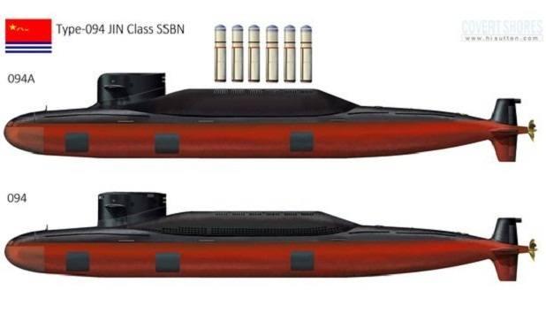 Teknologi kapal selam siluman China Jin Class 094A Bertenaga Nuklir