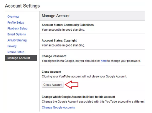 How to Delete Account Youtube