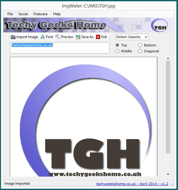 ImgWater v1.3 Released - Free Image Watermarking Tool 2