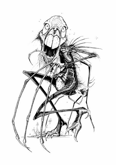 SCHEME 9: A Sketch a Day: Lewis Carroll's The Bandersnatch