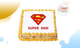 Super Dad Butterscotch Photo Cake