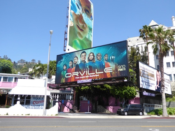 Orville TV series billboard