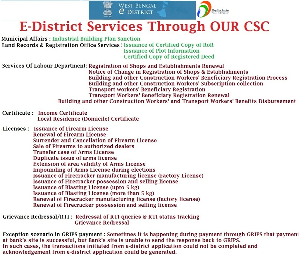 Welcome To Midnapore Tathyamitra Kendra (CSC) Common Service