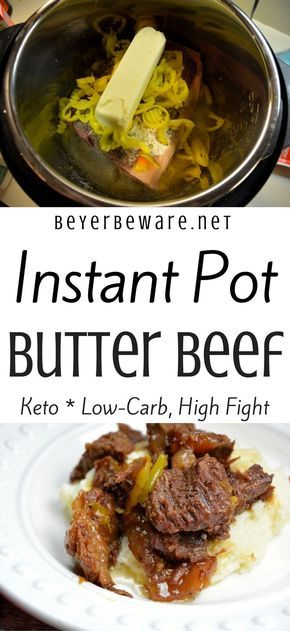 Instant Pot Butter Beef – Keto, Low Carb