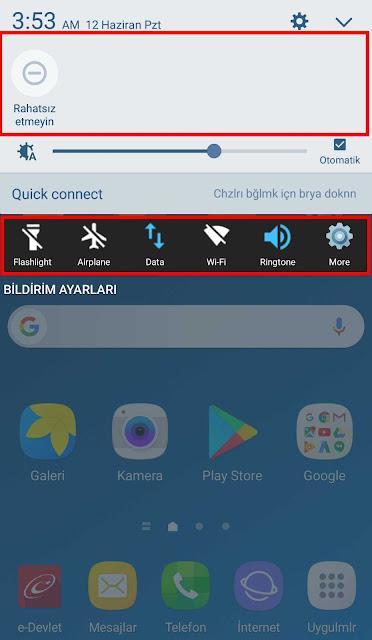 Samsung C7 Hızlı Ayarlar Türkçe Dil HepsiBurada Şikayet