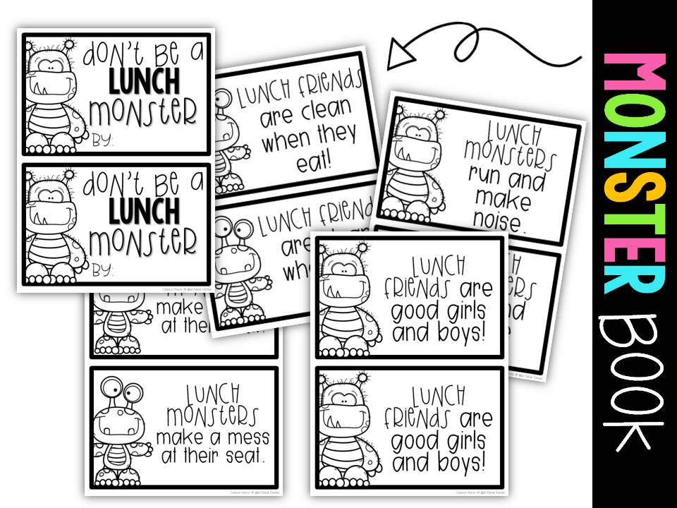 Wild About Firsties!: Don't Be a Lunch Monster {freebie}