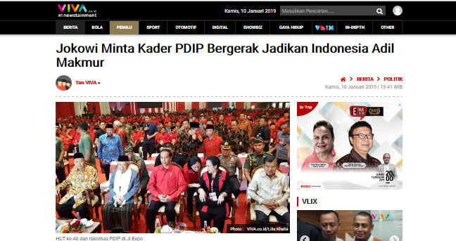 Jokowi Minta Kader PDIP Bergerak Jadikan Indonesia Adil Makmur, Suryo Prabowo: Sampai sini, paham kan siapa Capres dan Cawapres yang otentik?