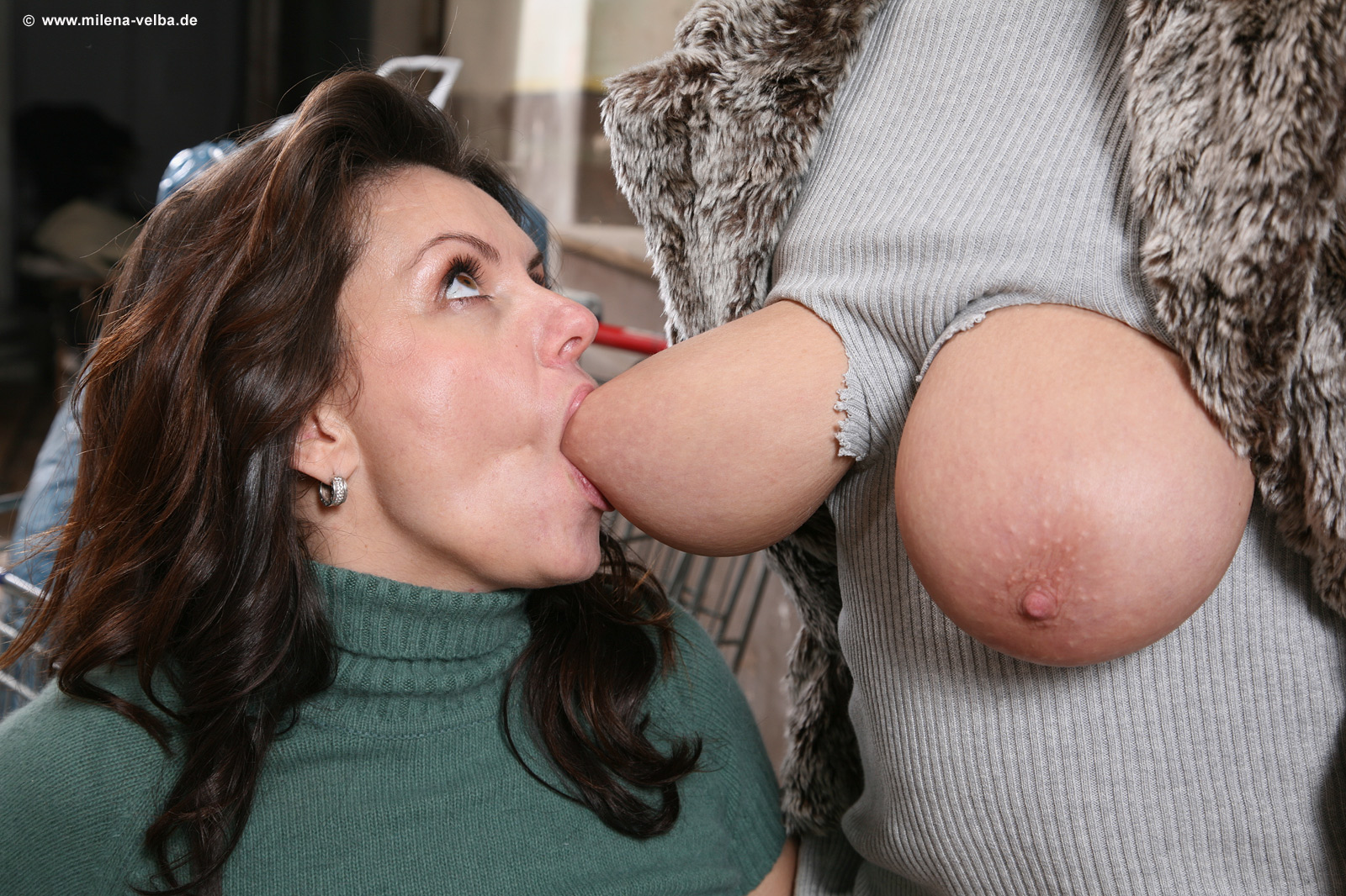sucking boobs