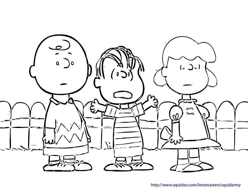 Charlie brown squid army for Free charlie brown coloring pages