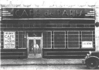 Image from an advertisement for the Cafe de Paris. Brookline Chronicle, November 29, 1934