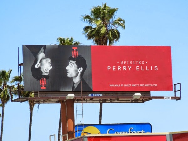 Perry Ellis Spirited fragrance billboard