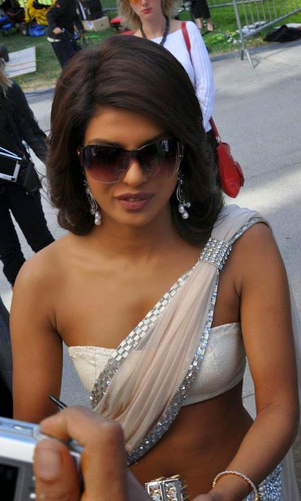 Dusky Priyanka Chopra in sexy white blouse