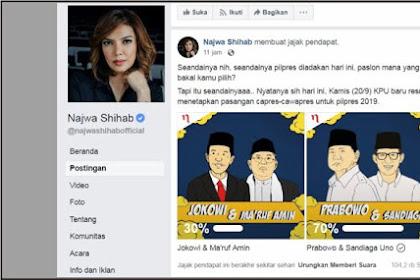 Mengejutkan, Begini Hasil Polling Pilpres di Fanspage Resmi Najwa Shihab