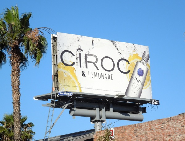 Ciroc Lemonade Vodka billboard