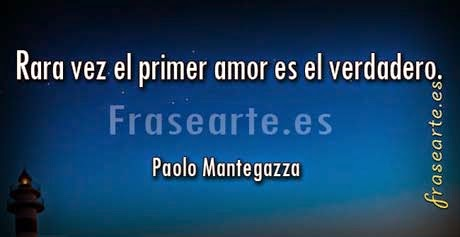Frases de amor de Paolo Mantegazza
