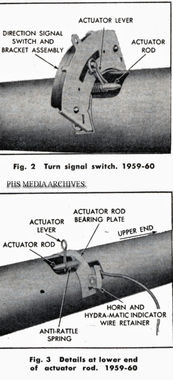 1959-60 switch is relatively large but easy to change as its completely  external.