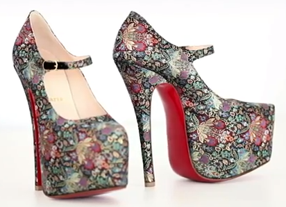 18d204bce ... the shoe design soon ranged from black patent leather to Pink Swarovski  encrusted. The Daffodil pump soon became the must-have accessory of stars  such ...