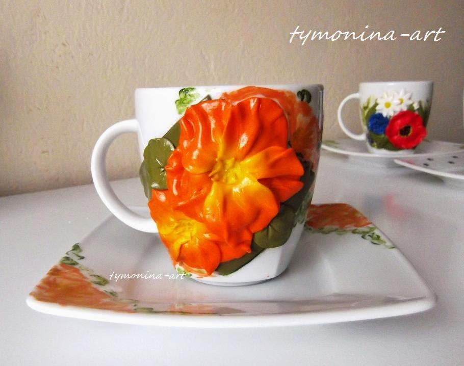 Kwiatowe filiżanki :)