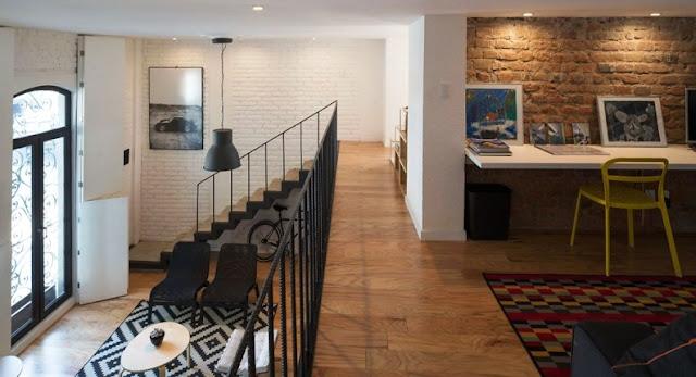 Loft en Córdoba con zona de trabaja realizada con muebles de Ikea chicanddeco