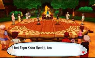 Pokémon Sun Moon Hala Tapu Koko liked festival battle