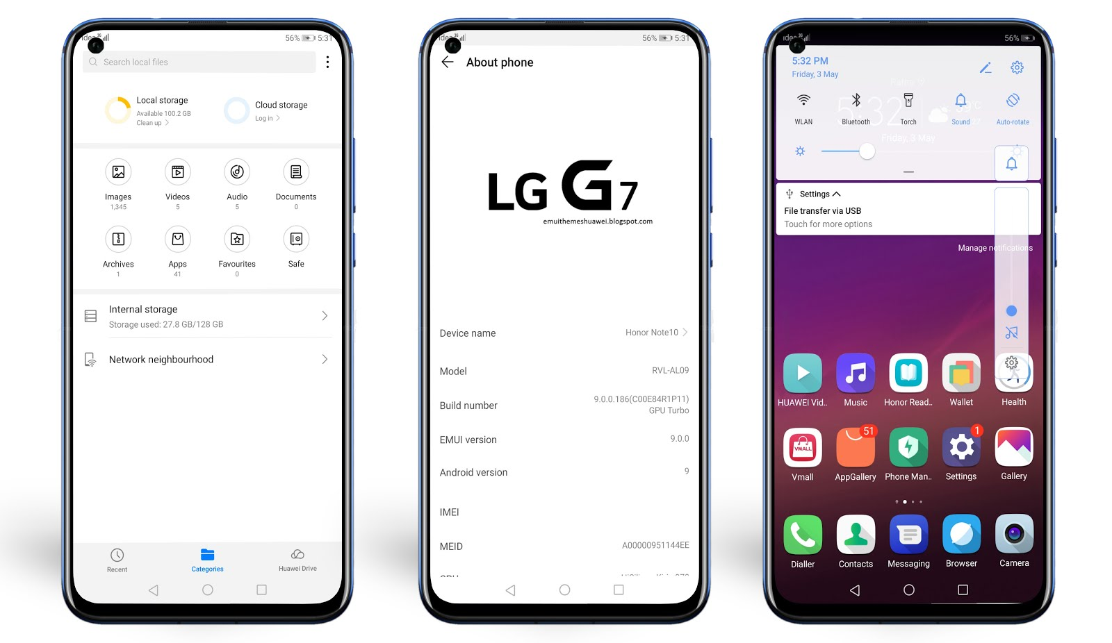 LG G7 EMUI Theme for EMUI 5/8/9 || Must Try - Emui Themes