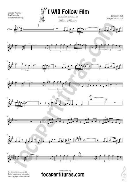 Hoja 1 de 2 Oboe Partitura de Yo le seguiré (I will follow him) Sheet Music for Oboe Music Score